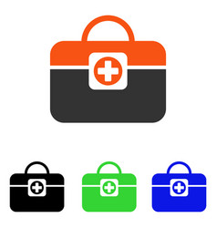 Medic case flat icon vector