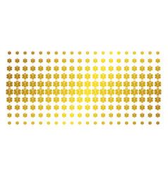 medical emblem gold halftone effect vector image