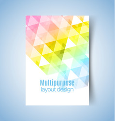 multipurpose layout design vector image