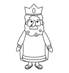 nativity wise man cartoon vector image