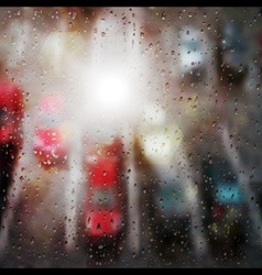 Raindrops on the window vector