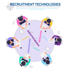 Recruitment technologies service agency vector