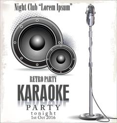 Retro karaoke background vector