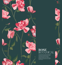 Rose realistic fower pattern in holiday texture vector