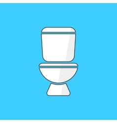 simple white toilet icon vector image