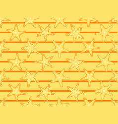 starfishes seamless pattern summer background vector image
