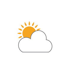 sun cloud icon design template isolated vector image