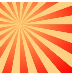 Sun rays sunburst on red color background vector