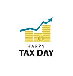 Tax day template design vector