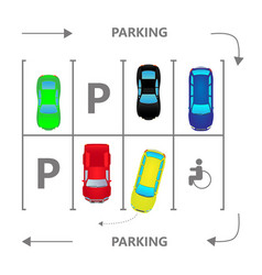 Top view city car parking vector