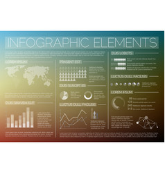 transparent set of infographic elements vector image vector image