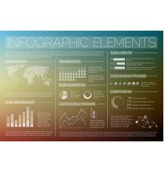 Transparent set of infographic elements vector