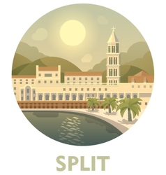 Travel destination Split vector image