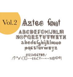 Tribal aztec alphabet vector