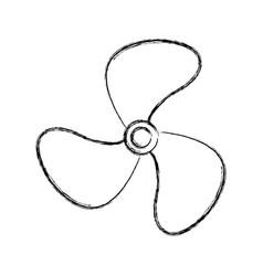 turbine fan isolated icon vector image