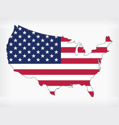 usa map united states america flag infographic vector image