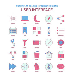 User interface icon dusky flat color - vintage 25 vector