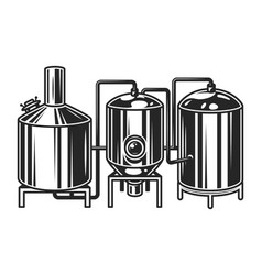 Vintage brewing machine concept vector
