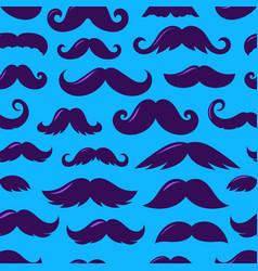Violet silhouettes moustache v seamless vector