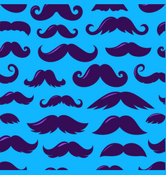 Violet sillhouettes moustache v seamless vector
