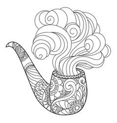 Abstract smoking pipe coloring book vector
