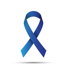 Blue ribbon isolated on white background vector image vector image