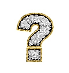 Hand drawn alphabet design Figure question mark vector image