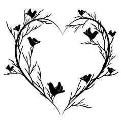 heart of birds vector image vector image