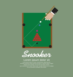 Snooker Playing EPS10 vector image vector image
