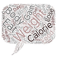 Weight Loss Starts in Your Head text background vector image vector image