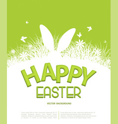 background for easter template for brochure vector image vector image