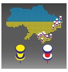 Infographics war in Ukraine vector image