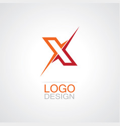 letter x abstract logo vector image vector image