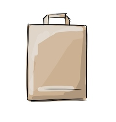 Shopping paper bag sketch for your design vector image vector image