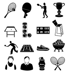 Tennis icons set vector image