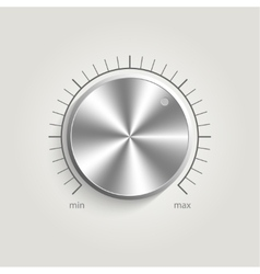 Metal volume music control vector image