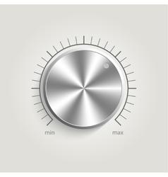 Metal volume music control vector image vector image