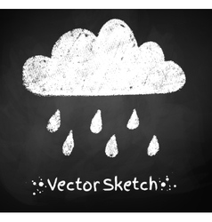Rainy cloud vector image vector image