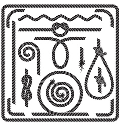 Rope design elements vector