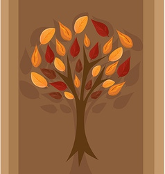 Autumn tree for your design vector image vector image