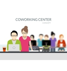 Coworking Center Composition vector image