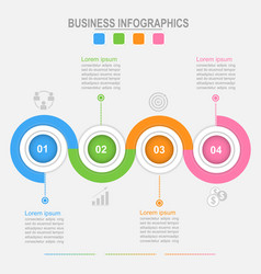 four options infographic connection business vector image