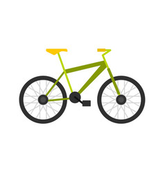 green bike icon flat style vector image