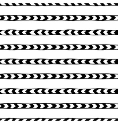 seamless hand drawn pattern with arrows vector image vector image