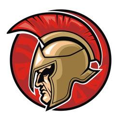 Spartan warrior head vector image vector image