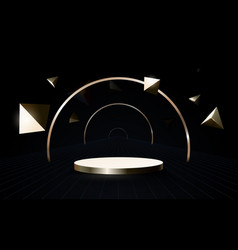3d podium composition geometric luxury vector image