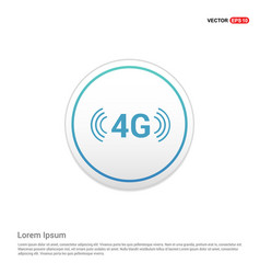 4g connection icon - white circle button vector