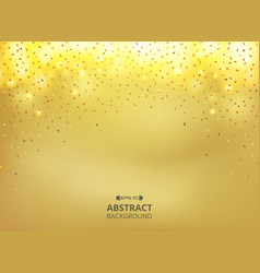 abstract of golden glitters gradient background vector image