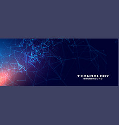 Abstract technology network mesh concept vector