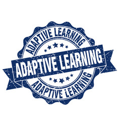 adaptive learning stamp sign seal vector image